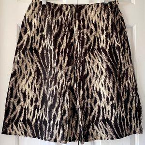 NWT Grace Elements Animal Print Skirt Size 10
